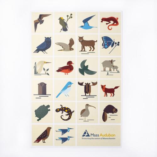 Mass Audubon Icons Poster