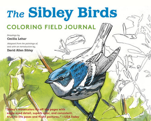 The Sibley Birds Coloring Field Journal book