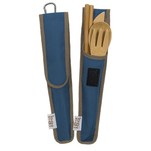 Bamboo Utensil Set in Carrying Pouch
