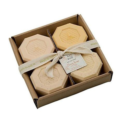 Set of 4 Bee Well Natural Honey Soaps