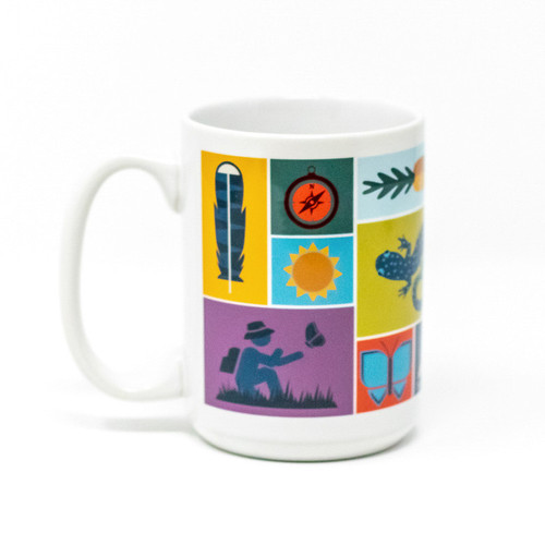 Mass Audubon Icons Mug, Large