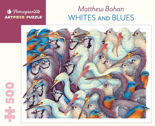 Whites & Blues 500-piece Jigsaw Puzzle by Matthew Bohan