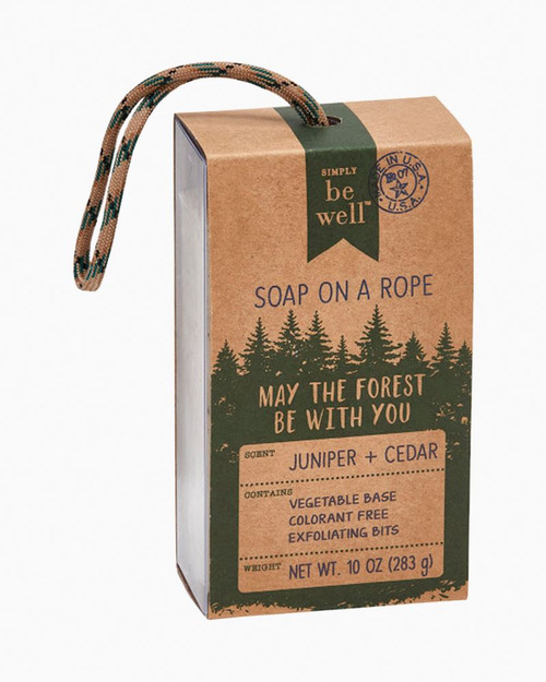 Juniper + Cedar Soap on a Rope