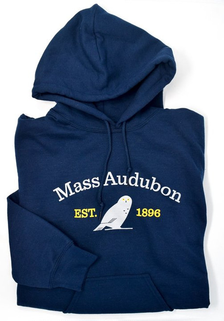 Mass Audubon Snowy Owl Sweatshirt with Hood