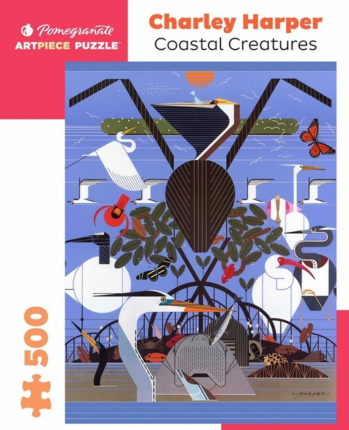 Charley Harper Coastal Creatures 500-Piece Jigsaw Puzzle