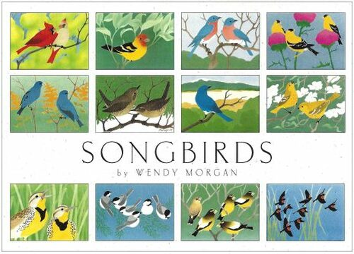 Songbirds Notecard Set by Wendy Morgan