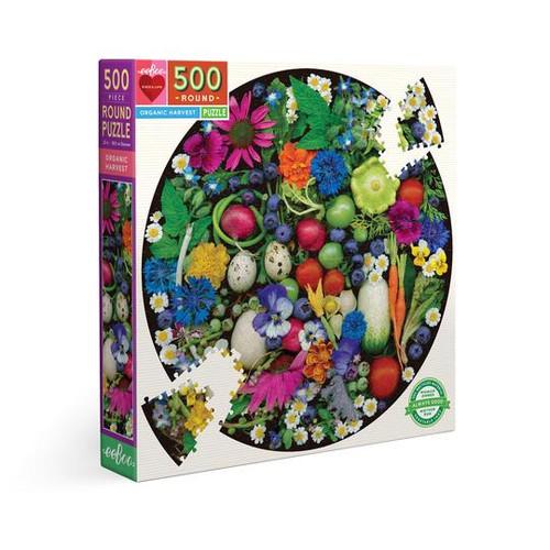 Organic Harvest 500-Piece Round Jigsaw Puzzle