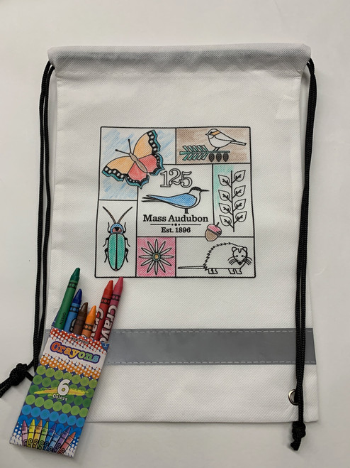 Mass Audubon 125th Coloring Drawstring Bag
