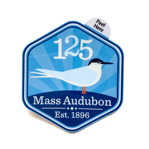 Mass Audubon 125th Anniversary Sticker