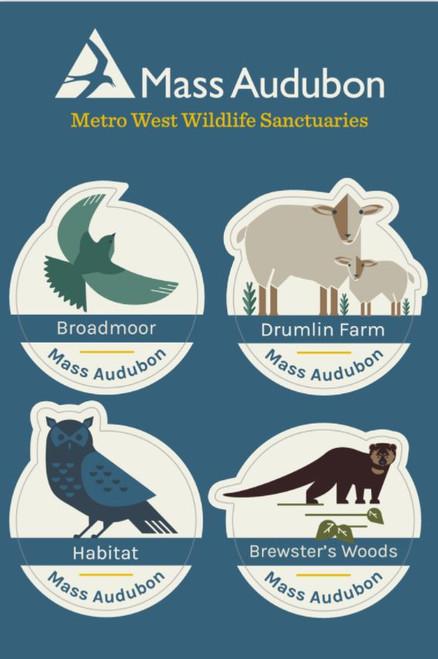 Metro West Wildlife Sanctuaries Sticker Set of 4