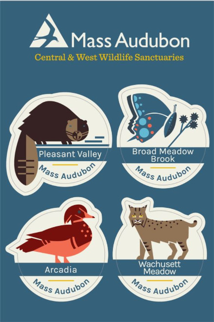 Central and West Wildlife Sanctuaries Sticker Set of 4