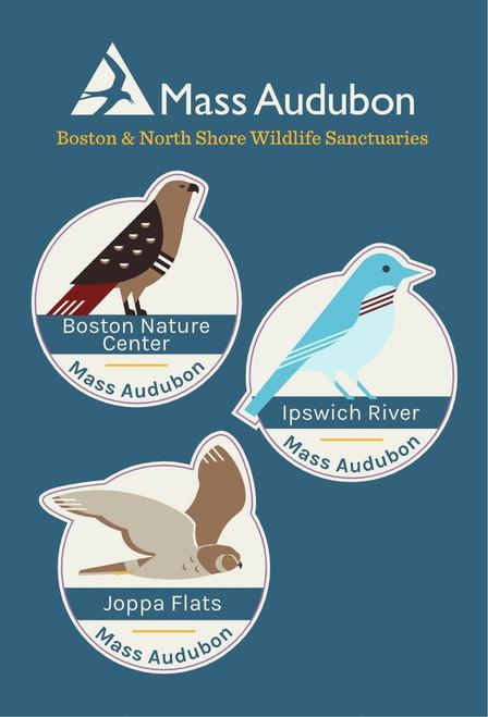 Boston & North Shore Wildlife Sanctuaries Sticker Set of 3