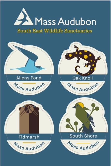 South East Wildlife Sanctuaries Sticker Set of 4