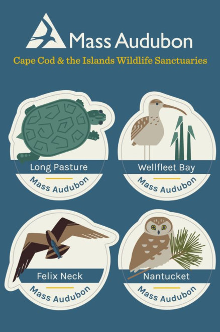 Cape Cod and the Islands Wildlife Sanctuaries Sticker Set of 4