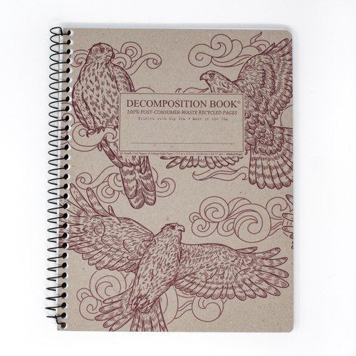 Spiral Notebook with Goshawks on the Cover