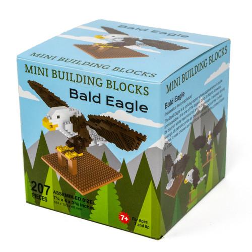 Bald eagle mini building blocks set