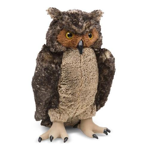 Large Lifelike Plush Owl