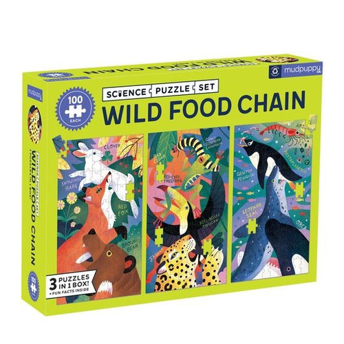 Wild Food Chain Puzzle Set of 3