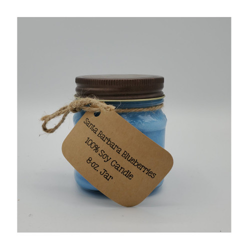 Soy candle, blueberry scented