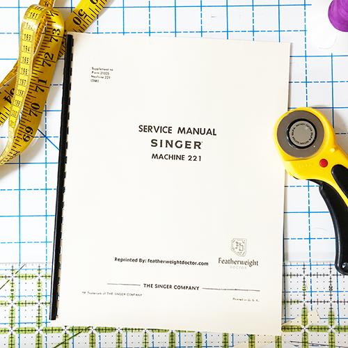 Singer Service Manual for Model 221, 222
