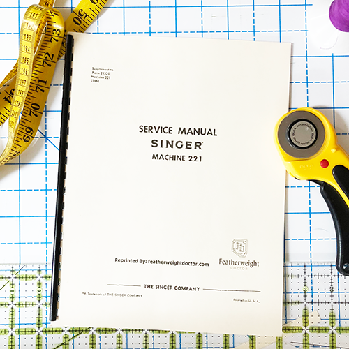 Singer Service Manual for Model 221, 222
