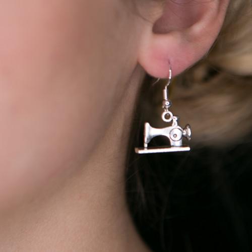 Simple Sewing Machine Earrings