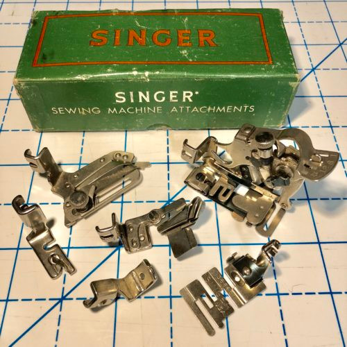 Complete Set of 6 Original Singer Presser Feet, with Green Box