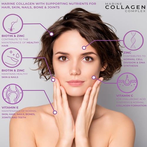 Collagen capsules with biotin hyaluronic acid