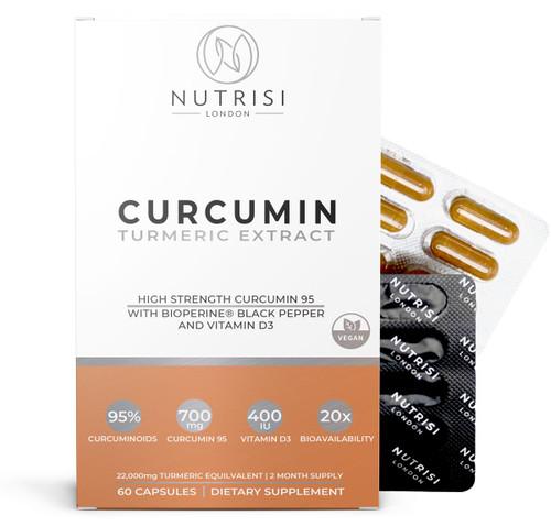 Turmeric Curcumin High Strength 700mg Extract with BioPerine Piperine and Vitamin D