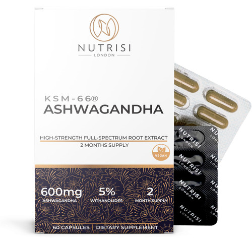 Ashwagandha 600mg KSM-66 High Strength