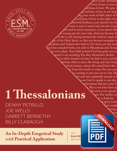 Downloadable Excel Still More Bible Workshop Workbook: 1 Thessalonians