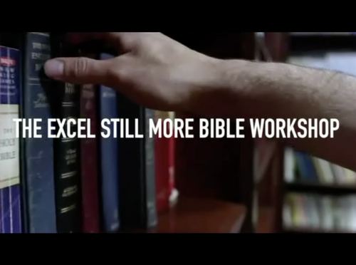 Video Series. Excel Still More Bible Workshop 2020: 1 Thessalonians