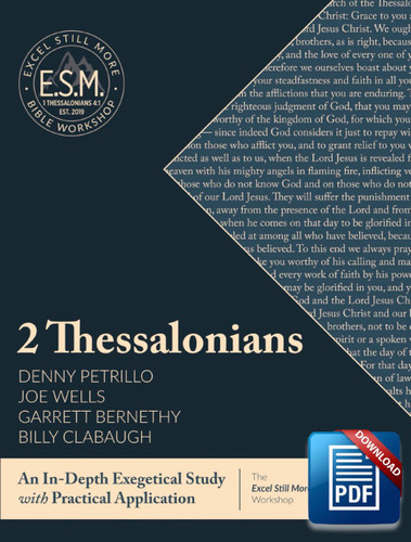 Downloadable Excel Still More Bible Workshop Workbook: 2 Thessalonians (Copyright Protected)