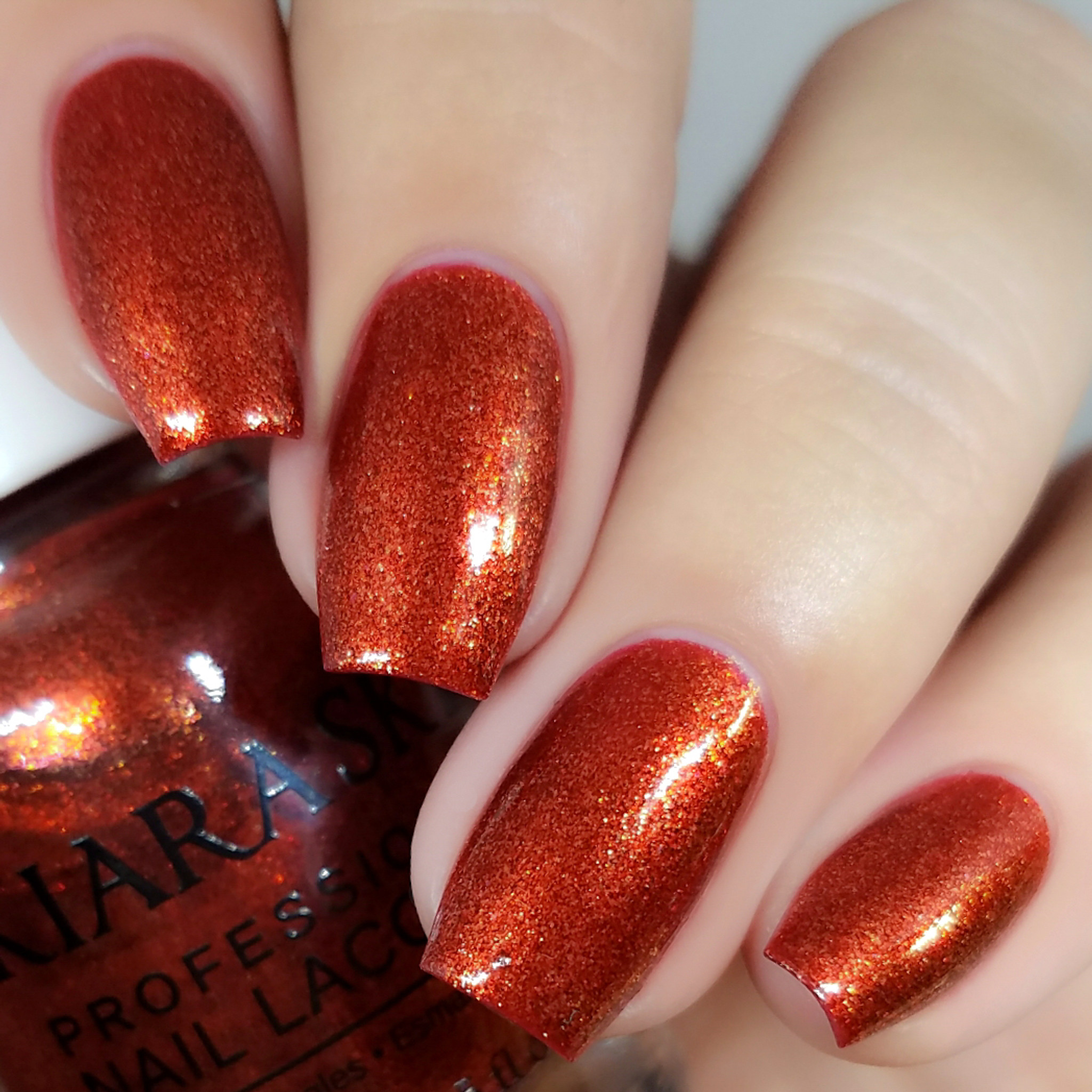 Frosted Pomegranate | Red Nail Lacquer | Kiara Sky