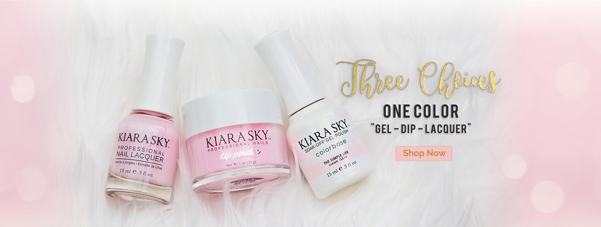 Kiara Sky Professional Nails Dip Powder Gel Polish Nail Lacquer