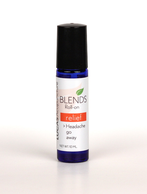 RELIEF in a roll-on bottle  Here is hope in the form of essential oil therapy for your headaches.  Our Relief Essential Oil Blend is designed to help relieve headaches. The special blend of oils are in a coconut oil base so you can use it directly on your skin or on some lava stone jewelry like earrings or a necklace so you can enjoy the benefits all day! BENEFITS: + The Melissa essential oil creates an uplifting effect on the mood to calm the mind, helps you find emotional harmony, and nurtures your spirit. Melissa is incredibly soothing for the nerves, and can help to ease feelings of anxiousness and prepare the body for a good night's rest. + Lavender promotes a smooth flow of energy, calms the liver and heart fire that can create pain and anxiety. + Peppermint can be so grounding. We put 3 drops in - one for spirit, one for body, and one for emotions. The oil centers you to help take your headache away because your Earth is calm. It reduces worry and stimulates the brain and memory. + Eucalyptus helps with the fatigue that can come from chronic pain; go from depressed to uplifted, let go. Benefits the Po spirit. + Rosemary treats the yang fire that can often be the cause of headaches and other pain. Helps the flow of oxygen and blood, can improve memory, morale, and sense of purpose.  + Helichrysum treats stress related symptoms like depression and pain. Balances yin and yang so your energy can stay centered instead of bounding up to your head and creating pain.   Use this Relief EO blend to relieve headaches. Use a few drops on the painful areas.