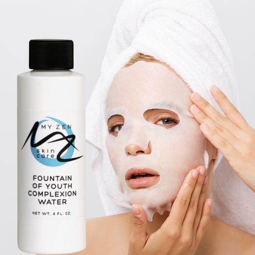 A must-have in every skincare regimen. Our Fountain of Youth Complexion Water is a lightweight treatment that can truly help your skin fight the visible signs of aging.    Our botanically-charged elixir is developed to do this for you: + reduce the appearance of fine lines and wrinkles with powerful hyaluronic acid and a selection of botanicals   + help create smoother and tighter looking skin   + help create a look of plumpness and volume, radiance and bounce   + slow down the aging process   Taking care of your skin can allow for a healing process that refreshes your skin's appearance and helps to restore its structure. Hyaluronic acid is your skin's main moisturizer and can have long lasting benefits. Vitamin C can reduce premature wrinkling by stimulating the growth of collagen. Green tea contains biological compounds called polyphenols. A sub-group of polyphenols called catechins effectively destroy free radicals and help slow down the aging process.   This anti-aging product nourishes your skin with hyaluronic acid and vitamin C plus two of our signature ingredients astragalus (huang qi) and green tea (lu cha).    Directions: Use 1-1.5 capfuls of the water to hydrate the paper mask (several masks are INCLUDED with the Fountain of Youth water.) Put the mask on your clean face for 5 to 10 minutes then follow with Your Daily C Elixir and your favorite cream or serum. You can also spritz it on throughout the day. Spray tops are available. https://store-mz0ux104oh.mybigcommerce.com/manage/products/219/edit    We care about our community so donate a portion of our income to a local food bank and to the Cat Care Society. What it is formulated WITHOUT:  Parabens Phthalates Endangered plants or minerals Gluten  Our products are never tested on animals; they're bunny safe.