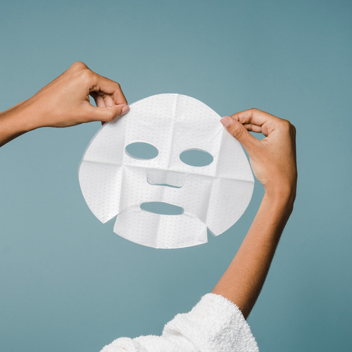 Using a sheet mask at least once/week can help boost your skin's hydration levels. It helps push the ingredients into the skin. The masks look like white discs because they are dry when you purchase them.  Directions: put the mask (what looks like a white disc of dry paper) into a capful or so of the Fountain of Youth Complexion Water and watch it hydrate and plump up. Then, put some Pearl cream or Goji Berry cream on, then the wet mask, lie down and relax for 10 minutes or so. Your skin will think you!  Buy these extra masks (10 masks) to have on hand to use with our Fountain of Youth Complexion Water.