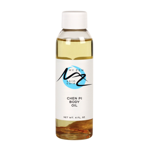"""Our Chen Pi Body Oil is multifunctional - use for moisturizing, clearing up acne, pain relief, belly Gua Sha, treating dandruff.  How does this oil benefit you? - helps treat belly fat and cellulite when used with a Gua Sha tool - it nourishes skin - its antimicrobial oils help reduce acne breakouts - it can be a deep pore cleanser! - treats your scalp to minimize flaking and dandruff  - relieves pain when massaged in - or receive Gua Sha from your acupuncturist   FOR HELPING TO CLEAR UP ACNE:  Hazelnut oil - safe for sensitive skin, cleanse and shrink pores, remove bacteria (ACNE), ****reduces an enzyme that destroys collagen, helps protect against sun damage by neutralizing free radicals and protecting cell membranes, reduces hyperpigmentation   Cinnamon bark oil - ACNE, enhances circulation so nourishes the skin   Carrot seed oil - antibacterial, antifungal, anti-inflammatory (ACNE)   Geranium - antimicrobial so helps prevent and treat ACNE, allows skin tissues to tighten and contract (look younger), removes dead skin cells so brightens skin   Pink grapefruit - clean and clear skin of blemishes, dark spots, and ACNE. Contains vitamin C, clinically proven to improve skin.   Lemon - treats ACNE   Cypress leaf - antibacterial so treats many skin conditions like ACNE, deep pore cleanser   Rosemary - helps decongest ACNE and oily skin, lightens dark spots, reduces swelling and puffiness    AND FOR Dandruff - antibacterial and anti fungal attacks the bacteria or fungus that can cause dandruff. Add a few drops to your shampoo or apply directly to your scalp  What do customers say? """"Ameizen'g!!!!!"""""""