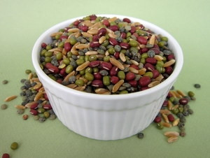 Gary's Mix Certified Organic Non-GMO Sprouting Seeds contain: Certified Organic Adzuki, ,KAMUT® Brand wheat French Lentil, Mung Beans