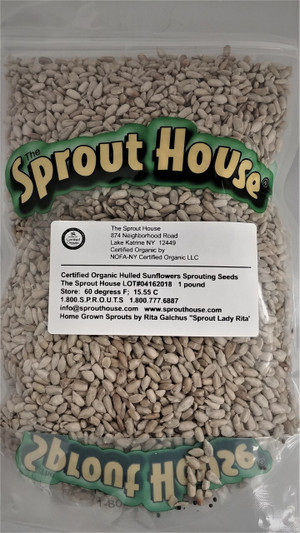 Hulled Sunflower Seeds - No Shells Certified Organic Non-GMO Sprouting Seeds