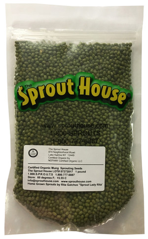 Mung Bean Certified Organic non-GMO Sprouting Seeds