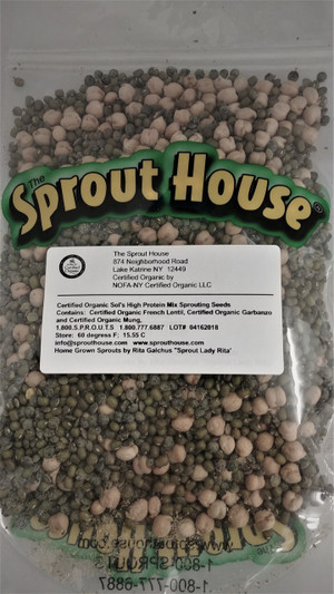 Sol's High Protein Seed Mix Certified Organic non-GMO Sprouting Seeds