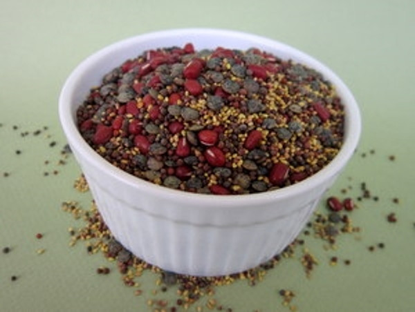 Cloverly Lentily Mix Certified Organic Non-GMO Sprouting Seeds contains: Certified Organic Crimson Clover, Broccoli, Lentils, and Red Pea (adzuki)