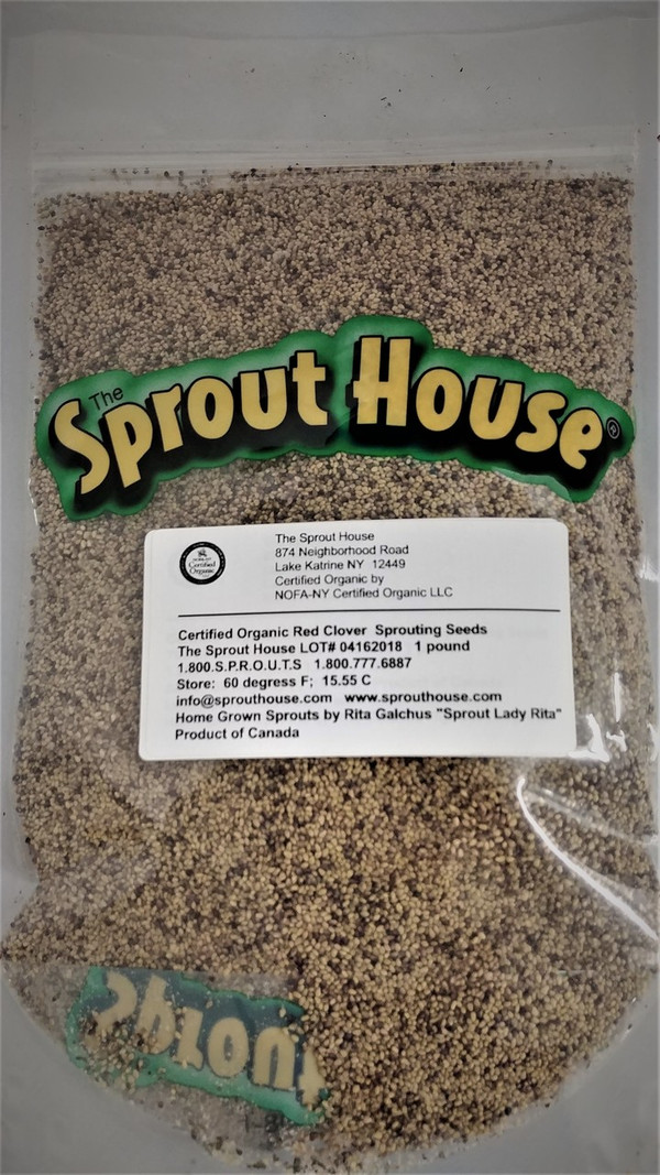 Red Clover Certified Organic Non-GMO Sprouting Seeds