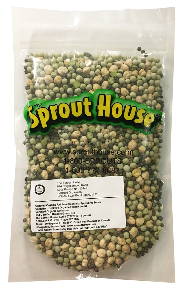 Rainbow Bean Mix Certified Organic non-GMO Sprouting Seeds
