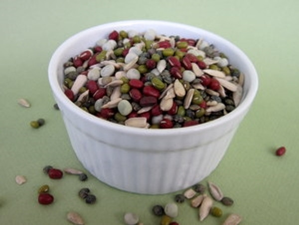 Jill's Sprout Salad Mix Certified Organic Non-GMO Sprouting Seeds Certified Organic adzuki, green pea, mung, french lentils, and sunmeats