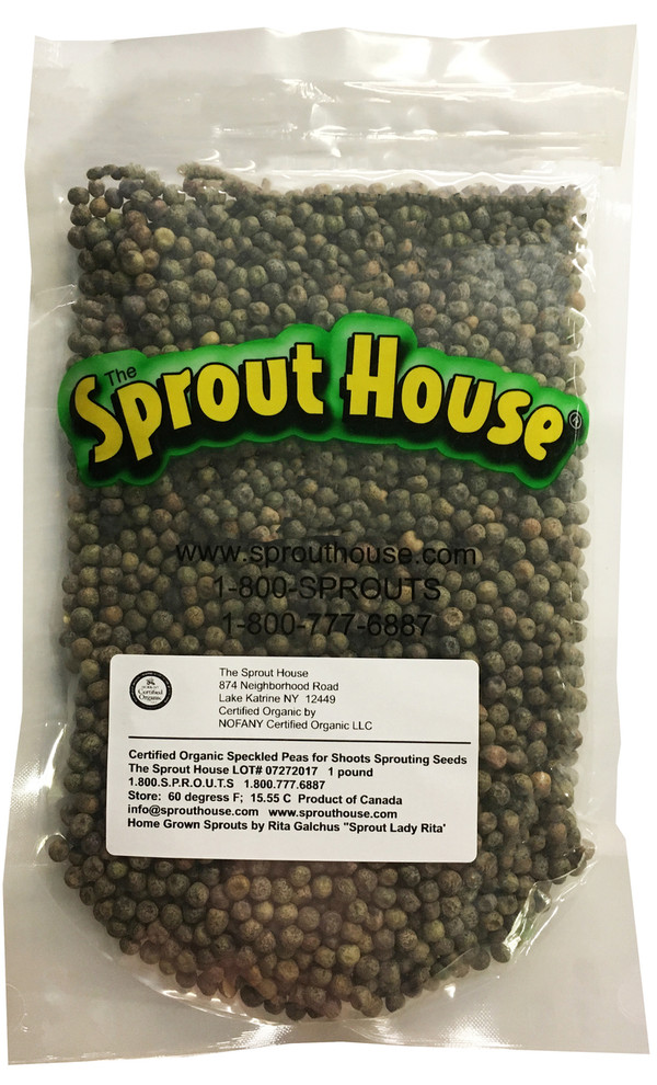 Speckled Snow Peas for Shoots Certified Organic Non-GMO Sprouting Seeds