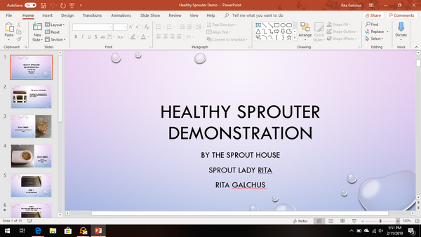 Healthy Sprouter Demo