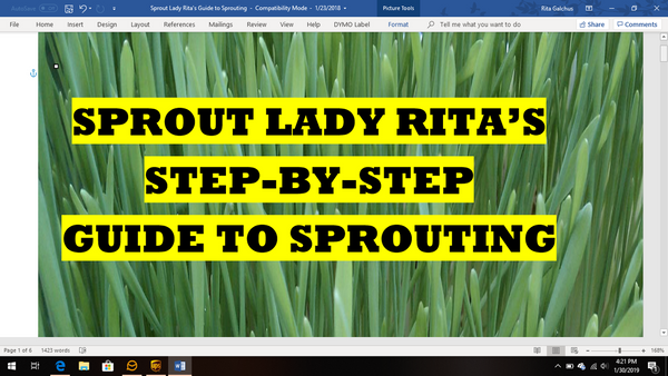 Sprout Lady Rita's Step-by-Step Guide to Sprouting